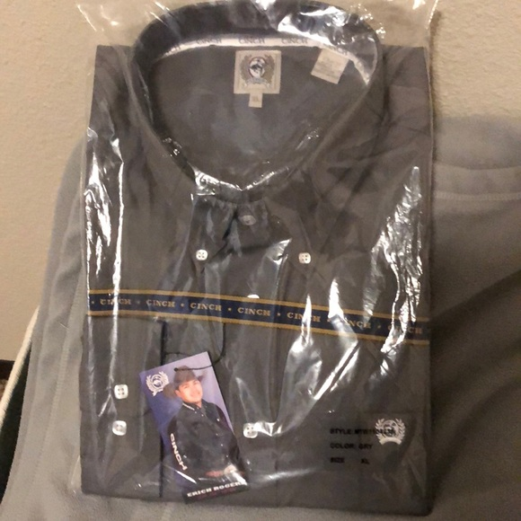 Cinch Other - Brand new men's cinch shirt grey XL